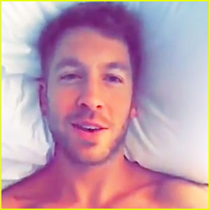 Calvin Harris Is Shirtless in Bed in New Snapchat Video!