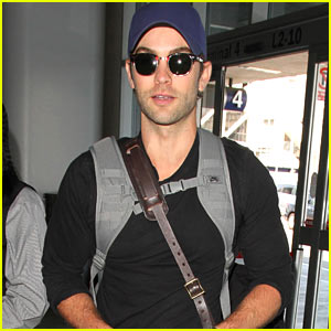Chace Crawford is All Smiles Jetting Out of LAX