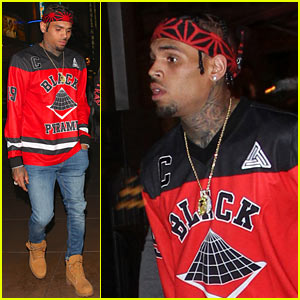 Chris Brown Sees a Movie at The Grove, Gets Followed by His Female Fans