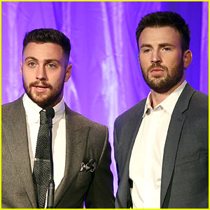 Chris Evans & Aaron Taylor-Johnson Have a Marvel Reunion at HFPA Event!