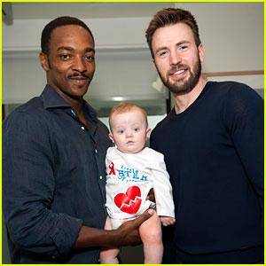 Chris Evans & Anthony Mackie Visit Children's Hospital in Boston