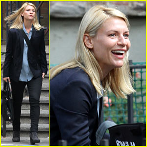 Claire Danes Continues 'Homeland' Season Six Filming in NYC