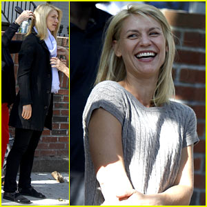 Claire Danes Has a Blast While Filming New 'Homeland' Scenes!