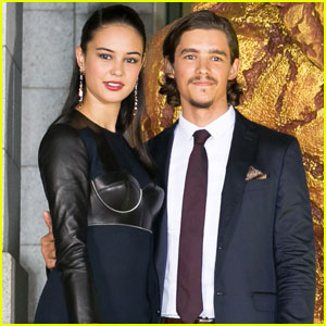 Courtney Eaton & Brenton Thwaites Premiere 'Gods of Egypt' in Japan