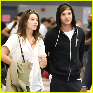 Louis Tomlinson & Danielle Campbell Jet Into JFK Together