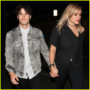 Darren Criss & Girlfriend Mia Swier Have a Date Night