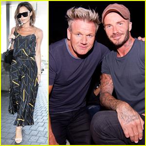 David Beckham & Gordon Ramsay Buddy Up At 'Sabrina' Cinespia Screening!