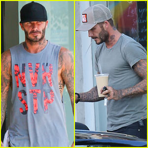 David Beckham Spends the Day with Daughter Harper!