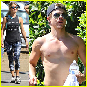 Derek Hough & Sister Julianne Hike Fryman Canyon For Move Interactive