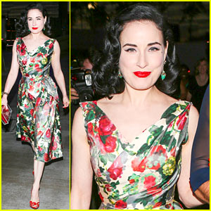 Dita Von Teese Watches Adele Perform Live in Concert