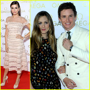 Eddie Redmayne & Camilla Belle Attend Omega's Olympics Party