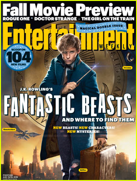Eddie Redmayne Stars as Newt Scamander on 'Fantastic Beasts & Where to Find Them' EW Cover!