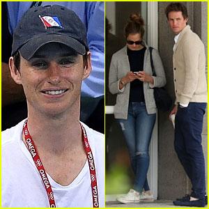 Eddie Redmayne & Wife Hannah Catch Rio Olympics Events