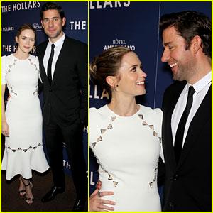 Emily Blunt Supports Hubby John Krasinski at 'Hollars' Premiere