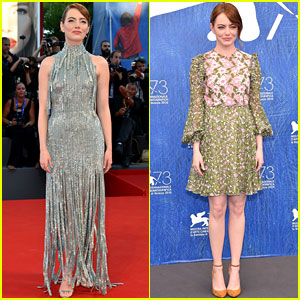 Emma Stone Stuns at 'La La Land' Premiere & Photo Call in Venice