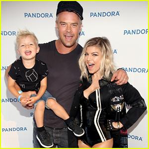 Fergie Gets Support From Josh Duhamel & Axl at Pandora Summer Crush Concert