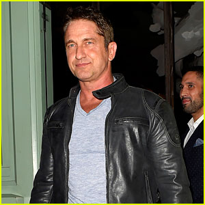 Gerard Butler Hangs Out in London with Jean-Bernard Fernandez-Versini