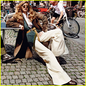 Gigi Hadid Hits the Streets of Copenhagen For 'Vogue'