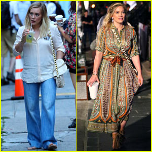 Hilary Duff Busts a Move On Set in Her 'Younger' Outfit!