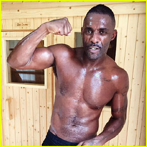 Idris Elba Flexes While Sweaty & Shirtless - See the Hot Photo!