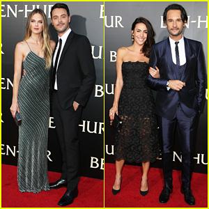 Jack Huston & Rodrigo Santoro Bring Their Partners To 'Ben-Hur' L.A Premiere!