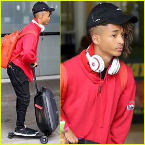 Jaden Smith Arrives in New York City After London Trip