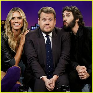 James Corden Plays First Line, Every Line with Josh Groban & Heidi Klum! (Video)
