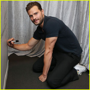 Jamie Dornan Gives Us a Tricep Flex at AOL Build Event