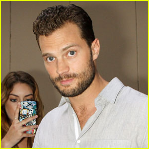 Jamie Dornan Signs Autographs for Fans in NYC