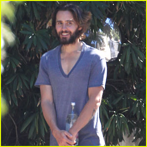 Jared Leto Steps Outside in His Pajamas & Slippers