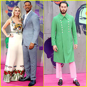 Margot Robbie, Jared Leto, & Will Smith Premiere 'Suicide Squad' in London!