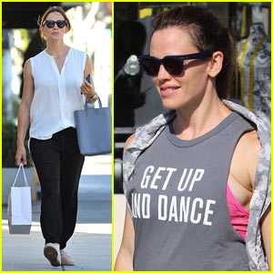 Jennifer Garner Hits the Gym After a Night Out!