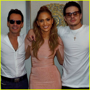 Jennifer Lopez Joined by Casper Smart & Ex Marc Anthony at Vegas Show