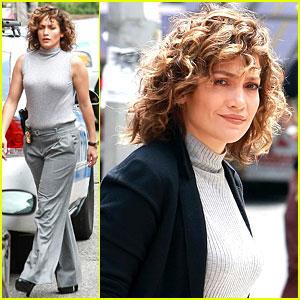Jennifer Lopez Shoots More 'Shades', Rocks 'RD Roth' Coat