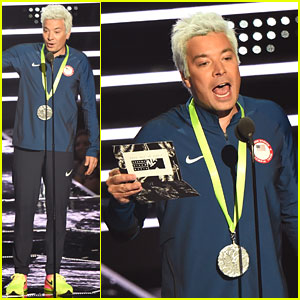 Jimmy Fallon Parodies Ryan Lochte at MTV VMAs 2016 - Watch Now!