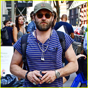 Joel Edgerton Sports Stripes While Out & About in Soho