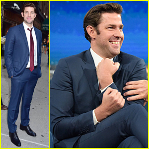 John Krasinski & Stephen Colbert Do Their Best Puke Takes!