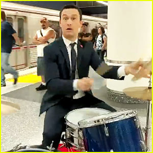 Joseph Gordon-Levitt Rocks Out Underground in the Subway - Watch Now
