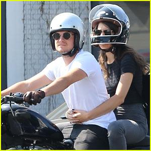 Josh Hutcherson & Girlfriend Claudia Traisac Ride Around on His Motorcycle