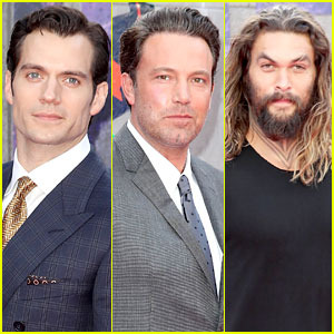 Justice League's Ben Affleck, Henry Cavill & Jason Momoa Support 'Suicide Squad' Cast at Premiere!