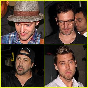 Justin Timberlake & 'NSYNC Bandmates Leave Nice Guy After Reunion!