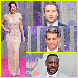 Karen Fukuhara & 'Suicide Squad' Guys Step Out for London Premiere!