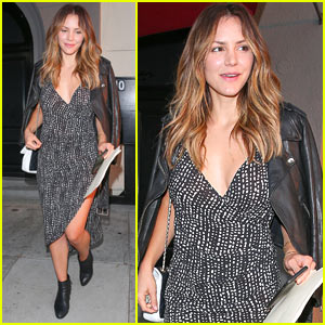 Katharine McPhee Shows Off Her Toned Legs While at Dinner