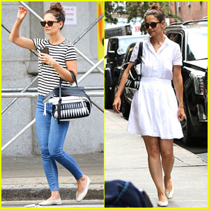 Katie Holmes & Suri Have a Mother Daughter Day at an Art Museum!