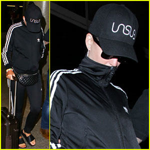 Katy Perry & Orlando Bloom Arrive Back in Los Angeles After Italian Getaway