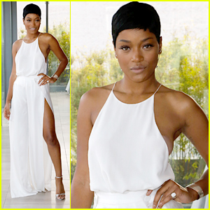 Keke Palmer Wows in White For Glamour's Women in Technology Dinner
