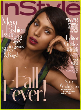 Kerry Washington Opens Up About Second Pregnancy for 'InStyle' September 2016 Cover Story