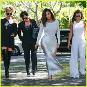 Kim, Khloe & Kourtney Kardashian Have Lunch With Kris Jenner After Car Accident