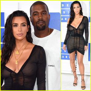 Kim Kardashian & Kanye West Couple Up for MTV VMAs 2016!