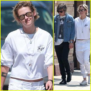 Kristen Stewart & Alicia Cargile Take Their Dog Shopping!